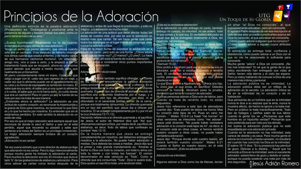 Principios de la adoracion